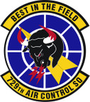 STICKER USAF 729th Air Control Squadron Emblem