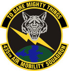 STICKER USAF 435th Air Mobility Squadron Emblem
