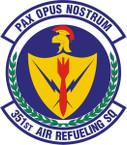 STICKER USAF 351st Air Refueling Squadron Emblem