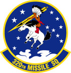STICKER USAF 320th Missile Squadron Emblem