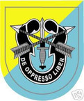 STICKER U S ARMY FLASH   8TH SPECIAL FORCES GROUP