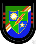 STICKER U S ARMY FLASH   3ND BATTALION 75TH RANGER