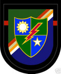 STICKER U S ARMY FLASH   1ST BATTALION 75TH RANGER