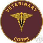 STICKER U S ARMY BRANCH Veterinary Corps