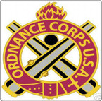 STICKER U S ARMY BRANCH Ordnance Corps
