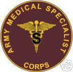 STICKER U S ARMY BRANCH MEDICAL SPECIALIST UNIT