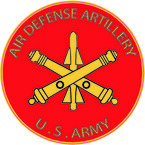 STICKER U S ARMY BRANCH AIR DEFENSE ARTILLERY