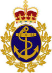 STICKER Royal Canadian Navy Badge