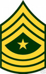 STICKER RANK US ARMY E9 SERGEANT MAJOR VINYL