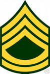 STICKER RANK US ARMY E7 SERGEANT FIRST CLASS VINYL