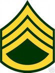 STICKER RANK US ARMY E6 STAFF SERGEANT VINYL