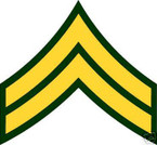 STICKER RANK US ARMY E4 CORPORAL VINYL