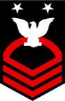 STICKER RANK U S NAVY E9 FORCE MASTER CHIEF PETTY OFFICER B
