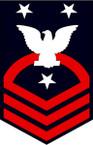 STICKER RANK U S NAVY E9 FORCE MASTER CHIEF PETTY OFFICER