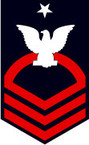 STICKER RANK U S NAVY E8 SENIOR CHIEF PETTY OFFICER B
