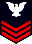 STICKER RANK U S NAVY E6 PETTY OFFICER FIRST CLASS B