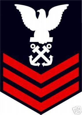 Sticker Rank U S Navy E6 Petty Officer First Class M C