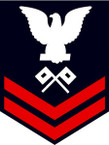 STICKER RANK U S NAVY E5 PETTY OFFICER SIGNALMAN