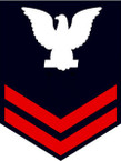 STICKER RANK U S NAVY E5 PETTY OFFICER SECOND CLASS B
