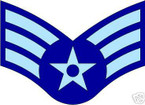 STICKER RANK AIR FORCE E4 SENIOR AIRMAN VINYL