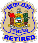 STICKER CIVIL  DELAWARE STATE POLICE RETIRED