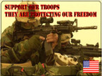 STICKER PATRIOTIC CUSTOM SUPPORT OUR TROOPS