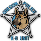 STICKER CIVIL OREGON K9 POLICE DEPARTMENT