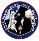 STICKER NASA SPACE SHUTTLE MISSION STS-72
