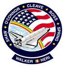 STICKER NASA SPACE SHUTTLE MISSION STS-61B