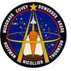STICKER NASA SPACE SHUTTLE MISSION STS-61