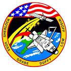 STICKER NASA SPACE SHUTTLE MISSION STS-57