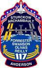 STICKER NASA SPACE SHUTTLE MISSION STS-117