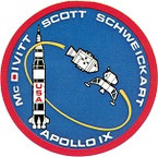 STICKER NASA APOLLO MISSION 9