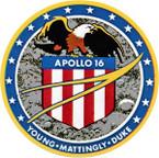STICKER NASA APOLLO MISSION 16