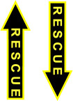 STICKER MILITARY RESCUE BLACK