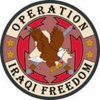 STICKER MILITARY Operation Iraqi Freedom 5