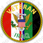 STICKER MILITARY IRAQ VETERAN