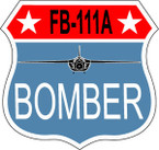 STICKER MILITARY FB-111A BOMBER