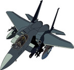 STICKER MILITARY AIRCRAFT F-15 Eagle
