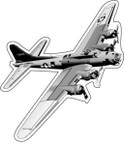 STICKER MILITARY AIRCRAFT B-17 Flying Fortress