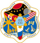 STICKER ISS Expedition  21