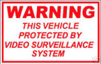 STICKER COMMERCIAL WARNING VIDEO SURVEILLANCE CCT V