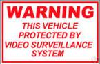 STICKER COMMERCIAL WARNING VIDEO SURVEILLANCE CCT V