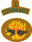 STICKER British SSI - Great Britain - 1st Commando