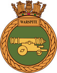 STICKER British Ship Badge - Great Britain - HMS Warspite
