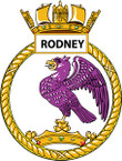 STICKER British Ship Badge - Great Britain - HMS Rodney