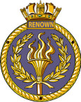 STICKER British Ship Badge - Great Britain - HMS Renown