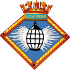 STICKER British Ship Badge - Great Britain - HMS Glowworm