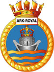 STICKER British Ship Badge - Great Britain - HMS Ark Royal