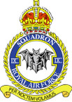 Sticker British Crest - RAF - 9 Squadron